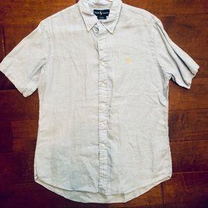 Polo Linen Short Sleeve Button Down